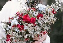 bukiet ślub zima
