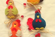 Chooks / Hens and roosters, all art and crafts