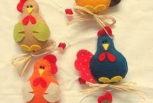 Crochet e feltro 2D e 3D / Pequenos motivos