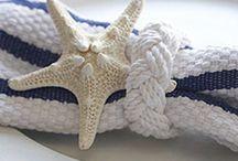 マリン//nautical / starfish, stripe & rope