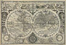 maps cartes anciennes globes
