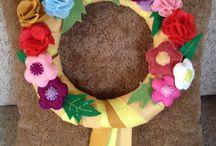 Felt hand made decoration.. El yapımı keçe ürünler.. / Keçe ürünlerim..