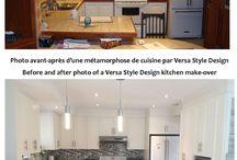 Kitchen before and afters - Cuisines avant - après