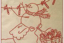 Redwork-Christmas / by Deb Brown