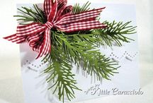 Weihnachtskarten mit Impression Obsession Stanzformen