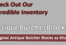 Antique Butcher Blocks / Antique Butcher Blocks has been a client for the past 4 years. The firm is owned by Henry Hine. They sell historic, antique butcher block islands. These butcher blocks have been recovered from all over the country and fully restored.
