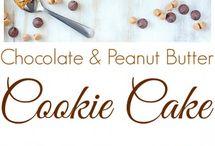 Peanut Butter Chocolate Cookie Cake