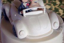 wedding cake car topper