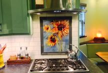 Kitchen Tile Murals / Backsplashes