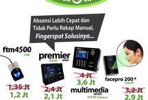 Promo Mesin Absensi Sidik Jari, Wajah, Kartu, dan Pasword / fingerspot adalah sebuah brand dari produk-produk mesin absensi sidik jari ( fingerprint ), deteksi wajah ( face detection ), kartu ( rfid, mifare, dll ), dan akses kontrol pintu ( doorlock acces ) yang sangat berpengalaman dan terpercaya sejak 2002. Informasi lengkap ada di http://absensifingeryogya.blogspot.com/