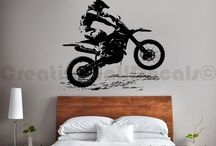 Bedroom for a biker