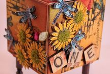 Artist Trading Blocks / ATB's ~ Artist Trading Blocks ~ Are Wooden Blocks that are Creative & Amazing! / by Nancy ❥