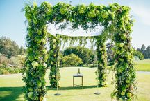 Chuppahs, Archways, & Chandeliers / Our expert production and design team can create a range of archways from subtle and romantic archways to lush and extravagant chuppahs. Every chuppah is custom designed for the couple and the location! Call us today to inquire about our custom ceremonial archways.