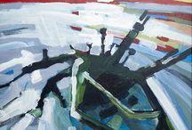 Drafts art painting by Piotr Banachowicz