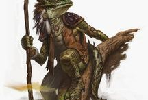 Half Reptile Character refrences