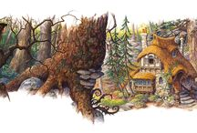 SW: The Seven Dwarf's Cottage / Snow White finds a place of refuge and shelter with the seven dwarfs and makes their house a home. (Deeper impressions of an aspect of the fairy tale Little Snow White.)