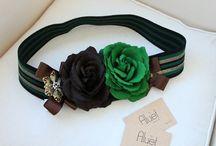 cinturon con flores
