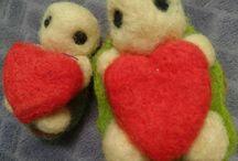 cute turtle /tortoise / turtle tortoise ornament cute needle felted creatures