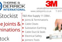 Thorne & Derrick International : MV HV Power Products & Stockists / Thorne & Derrick UK are national distributors and worldwide exporters of LV-HV Cable Installation, Jointing & Electrical Equipment - we service UK and global businesses involved in low and high voltage cable installations, cable jointing, substation and electrical construction at LV, 11kV, 33kV and EHV in industrial and hazardous areas.   Visit our new website www.thorneandderrick.com