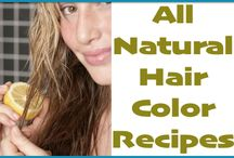 Natural Hair Coloring Ideas / Coloring hair without chemicals.