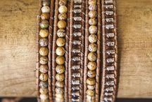 JuneStones Five Wrap Bracelets / JuneStones beautiful five wrap bracelets featuring high-quality high-vibration gemstones and natural leather http://junestones.com/jewelry/five-wraps/