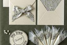γάμος / Χειροποίητα προσκλητήρια και μπομπονιέρες γάμου