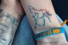 Rainbow Horse Tattoo