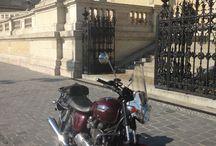 Bonne & Budapest / Budapest with my Bonneville