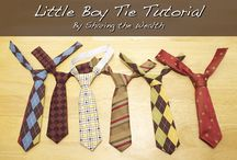 Sewing a tie for a child