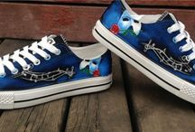 Broadway painted shoes