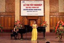 Vietnamese singer singing opera