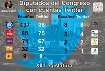 XII Legislatura en Redes Sociales / Infografías y gráficos donde trato de explicar el uso de las redes sociales por parte de los diputados al Congreso en la XII Legislatura en España