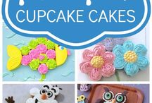 Pull apart cupcake cakes and templates