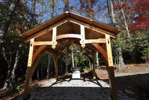 Timber Frame Porches, cooking, entry, back, sitting among others / timber framing is an art - and art shouldn't be hidden behind the walls. Pictured here are some of the porches we have handcrafted over the years.