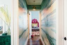 Bold choices for narrow hallways