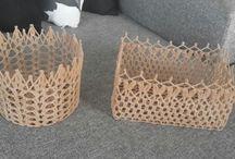 cestos de croche