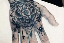 Tatto wolf had
