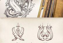 lettering ornamental