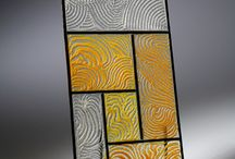mondrian inspired fused glass