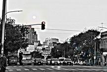 Buenos Aires B/N / La ciudad Autónoma de Buenos Aires en blanco y negro.