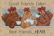 punto croce amiche