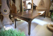 Mood / sold antiques- enfilades, farmhouse tables, mirrors, storage, seating