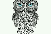 mandala owl tattoos