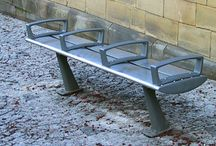 Cathedral Square Project (Manchester) / Manchester City Council asked Factory Furniture to produce a modified steel Foil seat for the Cathedral Square.