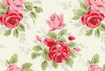 Rosie Prints / Rose, pastel , cheerful, Cath Kitson inspiration