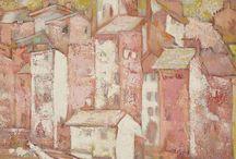 Buildings, surroundings for paintings