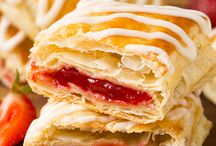 Home made strawberry strudels