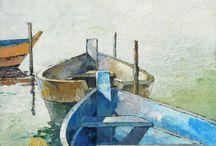 Sea and Boats 1 / ART