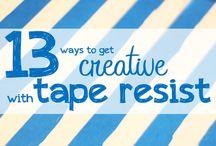Using tape for art
