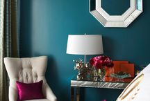 Silver, Gold and Teal Interiors / Add depth to a metallic palette
